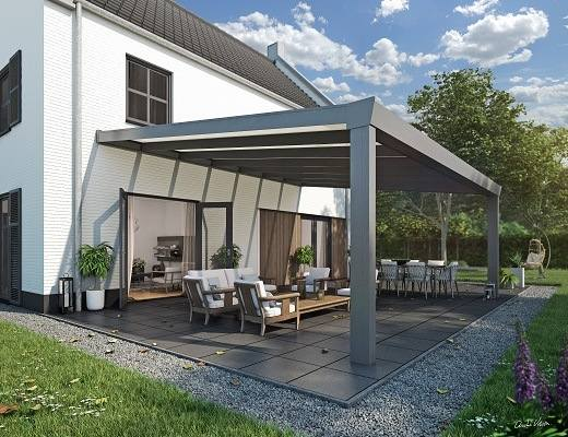 bausatz alu terrassen berdachung mit vsg 700x400cm terrassendach glas terrassendach. Black Bedroom Furniture Sets. Home Design Ideas