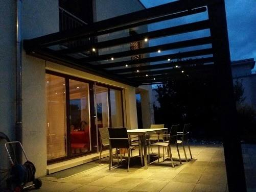 3er set led strahler zum einbau in terrassern berdachung zubeh r terrassendach. Black Bedroom Furniture Sets. Home Design Ideas